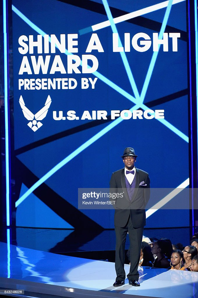 Honoree Marcus Duke accepts the Shine a Light Award onstage during the 2016 BET Awards at the Microsoft Theater on June 26, 2016 in Los Angeles, California.
