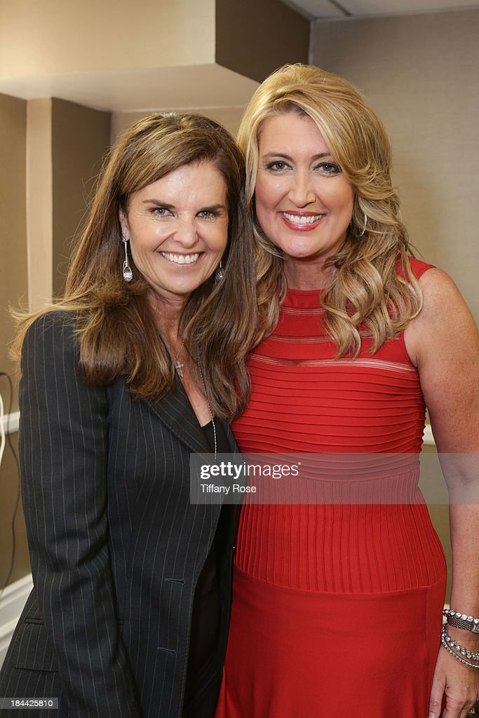 Honoree <a gi-track='captionPersonalityLinkClicked' href=/galleries/search?phrase=Maria+Shriver&family=editorial&specificpeople=179436 ng-click='$event.stopPropagation()'>Maria Shriver</a> and Wendy Burch attends the Good News Foundation's Feel Good event of the year at The Beverly Hilton Hotel on October 13, 2013 in Beverly Hills, California.