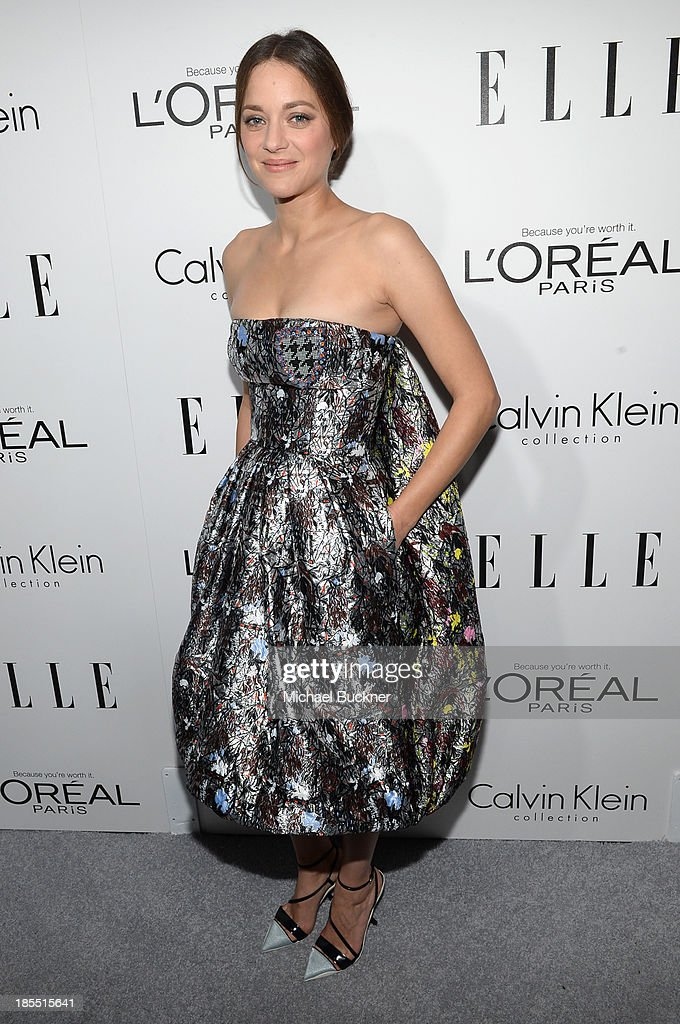 Honoree <a gi-track='captionPersonalityLinkClicked' href=/galleries/search?phrase=Marion+Cotillard&family=editorial&specificpeople=215303 ng-click='$event.stopPropagation()'>Marion Cotillard</a> attends ELLE's 20th Annual Women In Hollywood Celebration at Four Seasons Hotel Los Angeles at Beverly Hills on October 21, 2013 in Beverly Hills, California.