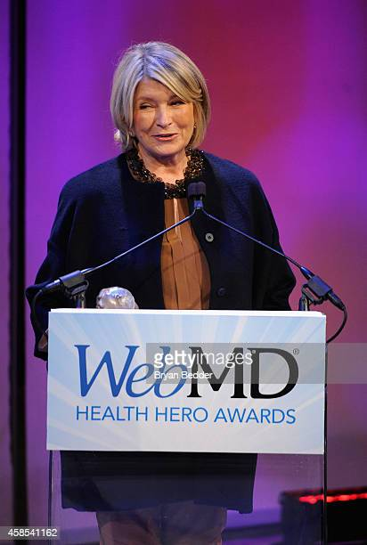 Honoree Martha Stewart speaks onstage at the 2014 Health Hero Awards hosted by WebMD at Times Center on November 6 2014 in New York City