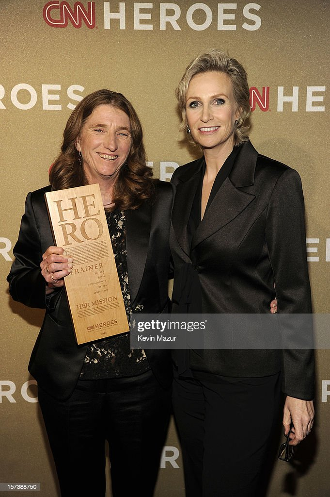Honoree Mary Cortani of Operation Freedom Paws (L) and actress <a gi-track='captionPersonalityLinkClicked' href=/galleries/search?phrase=Jane+Lynch&family=editorial&specificpeople=663918 ng-click='$event.stopPropagation()'>Jane Lynch</a> attend the CNN Heroes: An All Star Tribute at The Shrine Auditorium on December 2, 2012 in Los Angeles, California. 23046_005_KM_0174.JPG