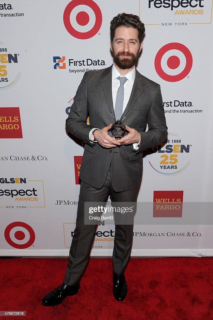 Honoree Matthew Morrison attends 2015 GLSEN Respect Awards on June 1 2015 in New York City