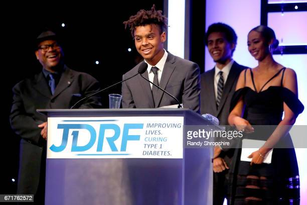 Honoree Max Harris attends JDRF LA's IMAGINE Gala to benefit type 1 diabetes research at The Beverly Hilton on April 22 2017 in Beverly Hills...