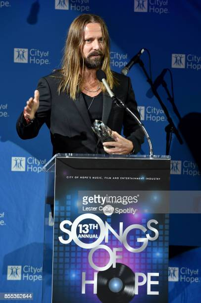 "Honoree Max Martin accepts the ""Clive Davis Legend in Songwriting"" Award at City of Hope's Music Film and Entertainment Industry's Songs of Hope..."