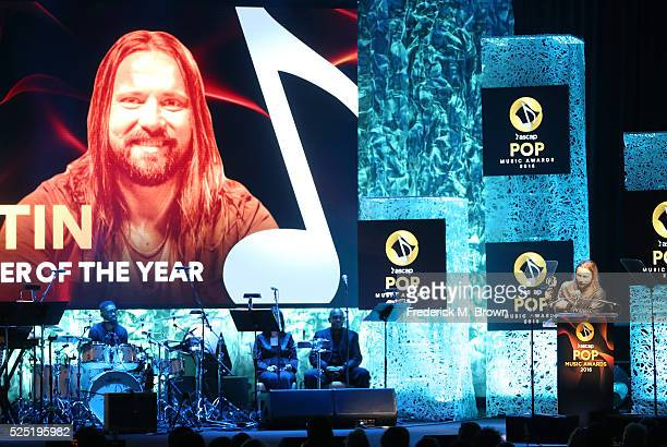Honoree Max Martin accepts the Songwriter Of The Year award for 'Bad Blood' 'Blank Space' 'Can't Feel My Face' 'Cool for the Summer' 'Love Me Harder'...