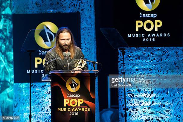 Honoree Max Martin accepts the Songwriter Of The Year award for 'Bad Blood' 'Blank Space' Can't Feel My Face' 'Cool For The Summer' 'Love Me Harder'...