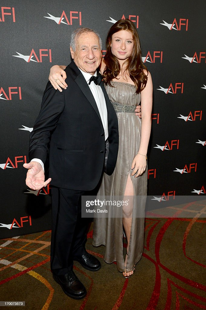 Honoree <a gi-track='captionPersonalityLinkClicked' href=/galleries/search?phrase=Mel+Brooks&family=editorial&specificpeople=208129 ng-click='$event.stopPropagation()'>Mel Brooks</a> and Samantha Brooks attend AFI's 41st Life Achievement Award Tribute to <a gi-track='captionPersonalityLinkClicked' href=/galleries/search?phrase=Mel+Brooks&family=editorial&specificpeople=208129 ng-click='$event.stopPropagation()'>Mel Brooks</a> at Dolby Theatre on June 6, 2013 in Hollywood, California. 23647_005_MD_0115.JPG