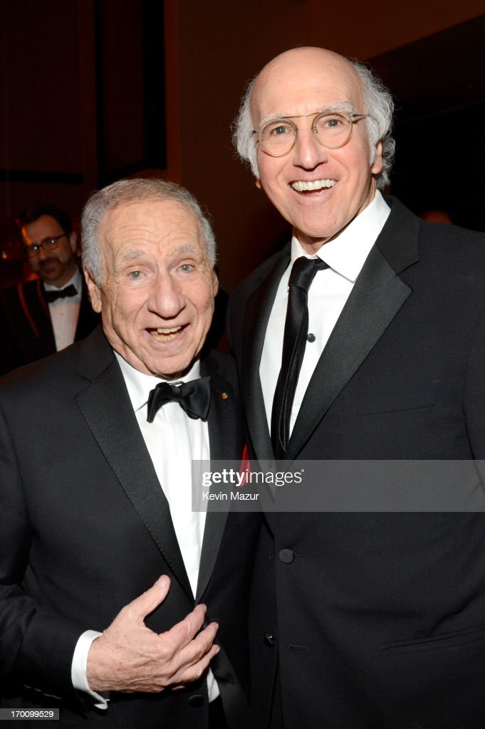 Honoree Mel Brooks and writer/producer Larry David attend the after party for AFI's 41st Life Achievement Award Tribute to Mel Brooks at Dolby Theatre on June 6, 2013 in Hollywood, California. 23647_004_KM_1926.JPG