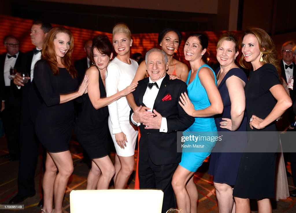 Honoree <a gi-track='captionPersonalityLinkClicked' href=/galleries/search?phrase=Mel+Brooks&family=editorial&specificpeople=208129 ng-click='$event.stopPropagation()'>Mel Brooks</a> (C) attends the after party for AFI's 41st Life Achievement Award Tribute to <a gi-track='captionPersonalityLinkClicked' href=/galleries/search?phrase=Mel+Brooks&family=editorial&specificpeople=208129 ng-click='$event.stopPropagation()'>Mel Brooks</a> at Dolby Theatre on June 6, 2013 in Hollywood, California. 23647_004_KM_1859.JPG