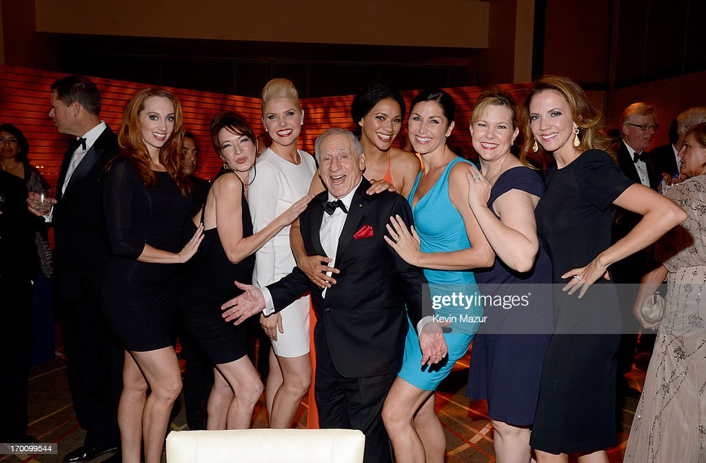 Honoree <a gi-track='captionPersonalityLinkClicked' href=/galleries/search?phrase=Mel+Brooks&family=editorial&specificpeople=208129 ng-click='$event.stopPropagation()'>Mel Brooks</a> (C) attends the after party for AFI's 41st Life Achievement Award Tribute to <a gi-track='captionPersonalityLinkClicked' href=/galleries/search?phrase=Mel+Brooks&family=editorial&specificpeople=208129 ng-click='$event.stopPropagation()'>Mel Brooks</a> at Dolby Theatre on June 6, 2013 in Hollywood, California. 23647_004_KM_1856.JPG