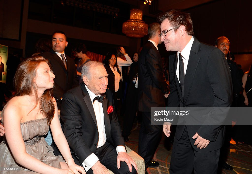 Honoree <a gi-track='captionPersonalityLinkClicked' href=/galleries/search?phrase=Mel+Brooks&family=editorial&specificpeople=208129 ng-click='$event.stopPropagation()'>Mel Brooks</a> (center), granddaughter Samantha Brooks (L), and actor <a gi-track='captionPersonalityLinkClicked' href=/galleries/search?phrase=Roger+Bart&family=editorial&specificpeople=1066121 ng-click='$event.stopPropagation()'>Roger Bart</a> (R) attend the after party for AFI's 41st Life Achievement Award Tribute to <a gi-track='captionPersonalityLinkClicked' href=/galleries/search?phrase=Mel+Brooks&family=editorial&specificpeople=208129 ng-click='$event.stopPropagation()'>Mel Brooks</a> at Dolby Theatre on June 6, 2013 in Hollywood, California. 23647_004_KM_1815.JPG