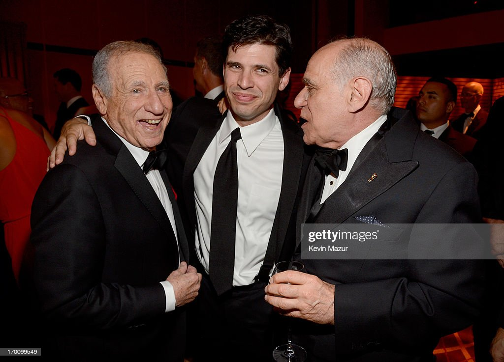 Honoree <a gi-track='captionPersonalityLinkClicked' href=/galleries/search?phrase=Mel+Brooks&family=editorial&specificpeople=208129 ng-click='$event.stopPropagation()'>Mel Brooks</a>, son, author/actor Max Brooks and Howard Kaminsky attend the after party for AFI's 41st Life Achievement Award Tribute to <a gi-track='captionPersonalityLinkClicked' href=/galleries/search?phrase=Mel+Brooks&family=editorial&specificpeople=208129 ng-click='$event.stopPropagation()'>Mel Brooks</a> at Dolby Theatre on June 6, 2013 in Hollywood, California. 23647_004_KM_1885.JPG