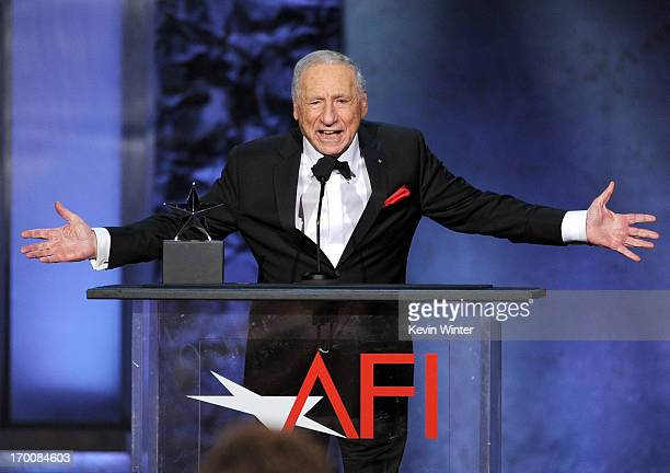 Honoree Mel Brooks speaks onstage during the 41st AFI Life Achievement Award Honoring Mel Brooks at Dolby Theatre on June 6 2013 in Hollywood...
