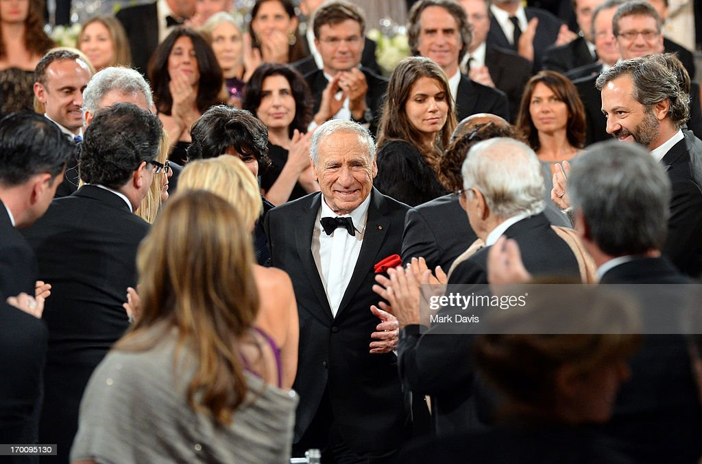 Honoree <a gi-track='captionPersonalityLinkClicked' href=/galleries/search?phrase=Mel+Brooks&family=editorial&specificpeople=208129 ng-click='$event.stopPropagation()'>Mel Brooks</a> walks onstage during AFI's 41st Life Achievement Award Tribute to <a gi-track='captionPersonalityLinkClicked' href=/galleries/search?phrase=Mel+Brooks&family=editorial&specificpeople=208129 ng-click='$event.stopPropagation()'>Mel Brooks</a> at Dolby Theatre on June 6, 2013 in Hollywood, California. 23647_005_MD_1140.JPG