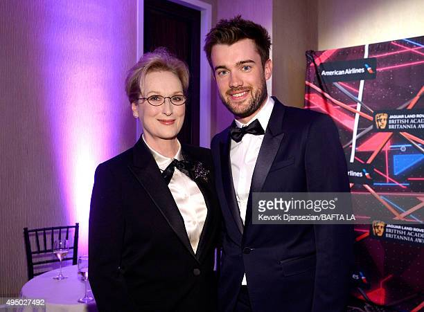 Honoree Meryl Streep and host Jack Whitehall attend the 2015 Jaguar Land Rover British Academy Britannia Awards presented by American Airlines at The...