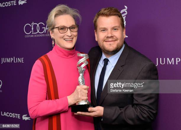 Honoree Meryl Streep recipient of the Distinguished Collaborator Award and TV personality James Corden attend The 19th CDGA with Presenting Sponsor...