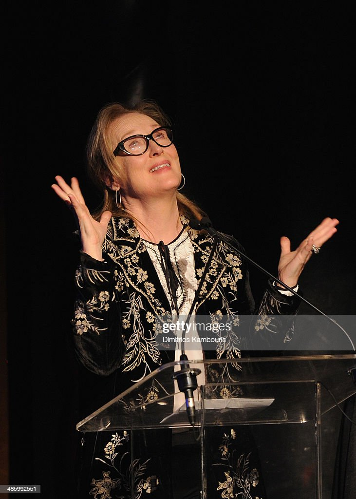Honoree Meryl Streep speaks at the Eugene O'Neill Theater Center event to present Meryl Streep with the 14th Annual Monte Cristo Award at the the Edison Ballroom on April 21, 2014 in New York City.