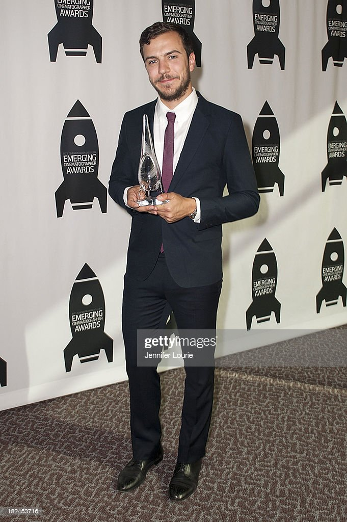 Honoree Michael Berlucchi attends The International Cinematographers Guild's 17th Annual Emerging Cinematographer Awards at Directors Guild Of America on September 29, 2013 in Los Angeles, California.