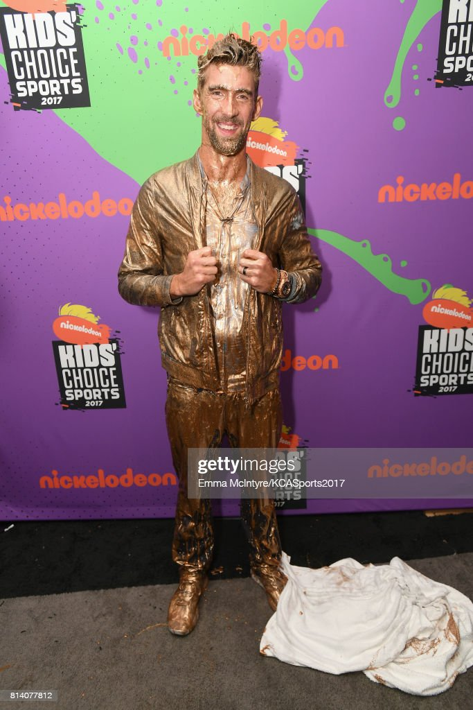 Honoree Michael Phelps, recipient of the Legend Award, attends Nickelodeon Kids' Choice Sports Awards 2017 at Pauley Pavilion on July 13, 2017 in Los Angeles, California.