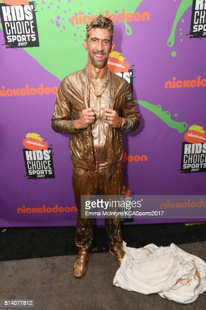 Honoree Michael Phelps recipient of the Legend Award attends Nickelodeon Kids' Choice Sports Awards 2017 at Pauley Pavilion on July 13 2017 in Los...