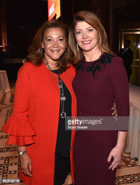 Honoree Michele Norris and Norah O'Donnell attend The International Women's Media Foundation's 28th Annual Courage In Journalism Awards Ceremony...