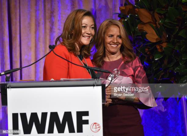 Honoree Michele Norris and Suzanne Malveaux onstage at The International Women's Media Foundation's 28th Annual Courage In Journalism Awards Ceremony...
