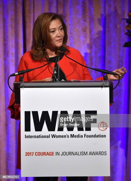 Honoree Michele Norris speaks onstage at The International Women's Media Foundation's 28th Annual Courage In Journalism Awards Ceremony Arrivals at...