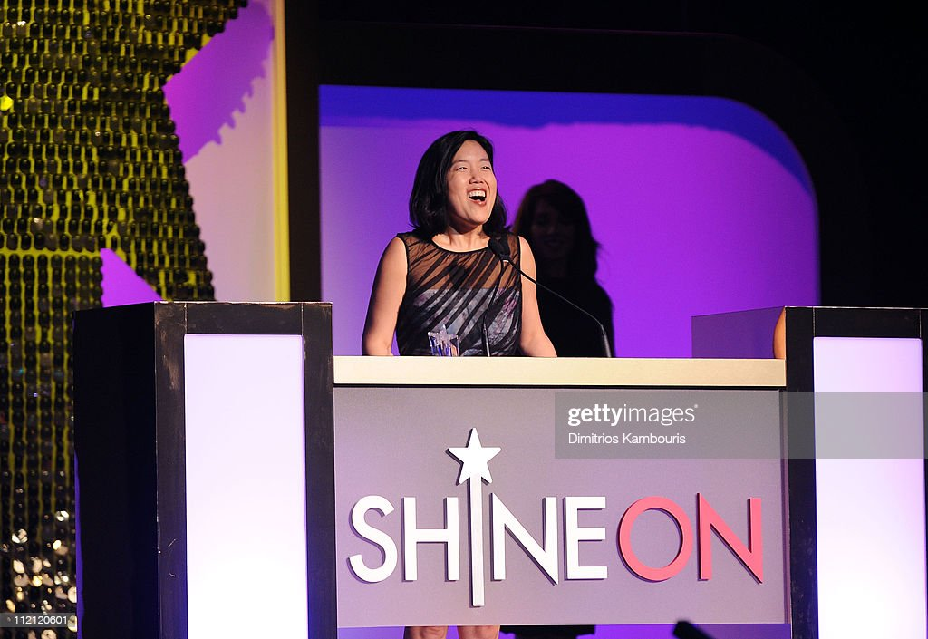 Honoree <a gi-track='captionPersonalityLinkClicked' href=/galleries/search?phrase=Michelle+Rhee&family=editorial&specificpeople=6520372 ng-click='$event.stopPropagation()'>Michelle Rhee</a> speaks onstage during Good Housekeeping's annual Shine On Awards honoring remarkable women at Radio City Music Hall on April 12, 2011 in New York City.