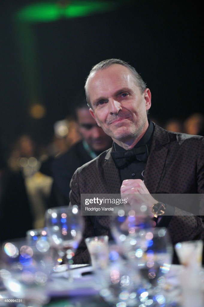 Honoree Miguel Bose attends the 2013 Person of the Year honoring Miguel Bose at the Mandalay Bay Convention Center on November 20 2013 in Las Vegas...