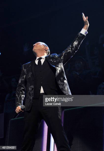 Honoree Miguel Bose performs onstage during The 14th Annual Latin GRAMMY Awards at the Mandalay Bay Events Center on November 21 2013 in Las Vegas...
