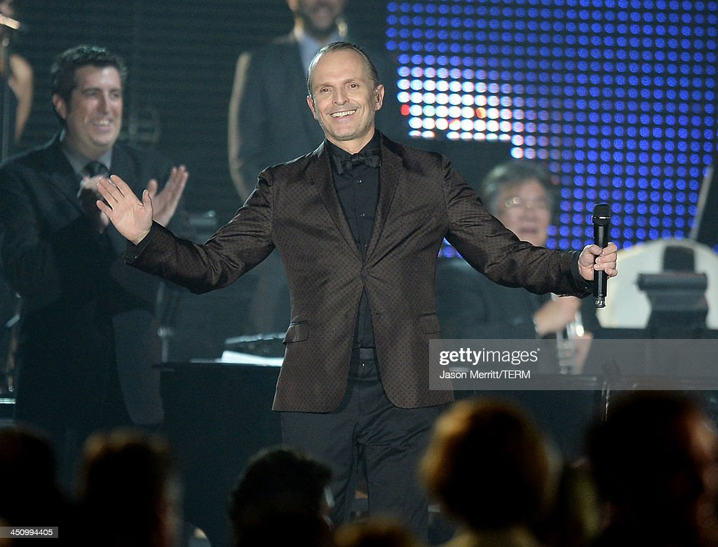 Honoree Miguel Bose performs onstage during the 2013 Latin Recording Academy Person Of The Year honoring Miguel Bose at the Mandalay Bay Convention...