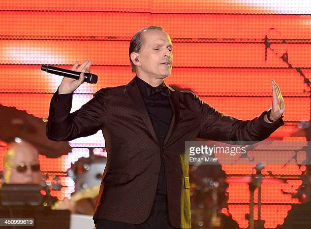 Honoree Miguel Bose performs onstage during the 2013 Person of the Year honoring Miguel Bose at the Mandalay Bay Convention Center on November 20...