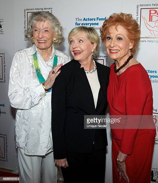 Honoree Miriam Nelson Florence Henderson and Honoree Carol Lawrence attends the 28th Annual Gypsy Awards Luncheon at The Beverly Hilton Hotel on...
