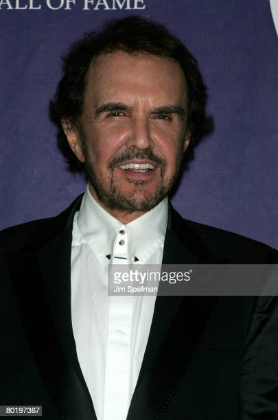 Honoree musician Dave Clark poses in the press room during the 23rd Annual Rock and Roll Hall of Fame Induction Ceremony at the Waldorf Astoria on...
