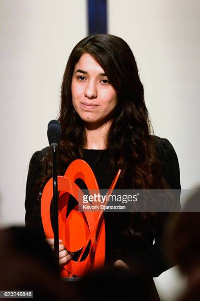 Honoree Nadia Murad accepts an award onstage during Glamour Women Of The Year 2016 at NeueHouse Hollywood on November 14 2016 in Los Angeles...