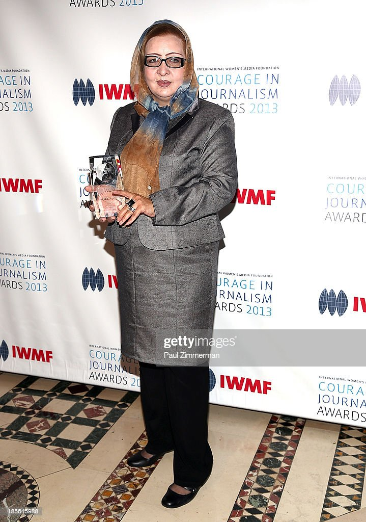 Honoree Najiba Ayubi attends the International Women's Media Foundation's 2013 Courage In Journalism awards at Cipriani 42nd Street on October 23, 2013 in New York City.