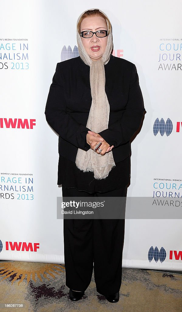 Honoree Najiba Ayubi attends the IWMF Courage in Journalism Awards 2013 at the Beverly Hills Hotel on October 29, 2013 in Beverly Hills, California.