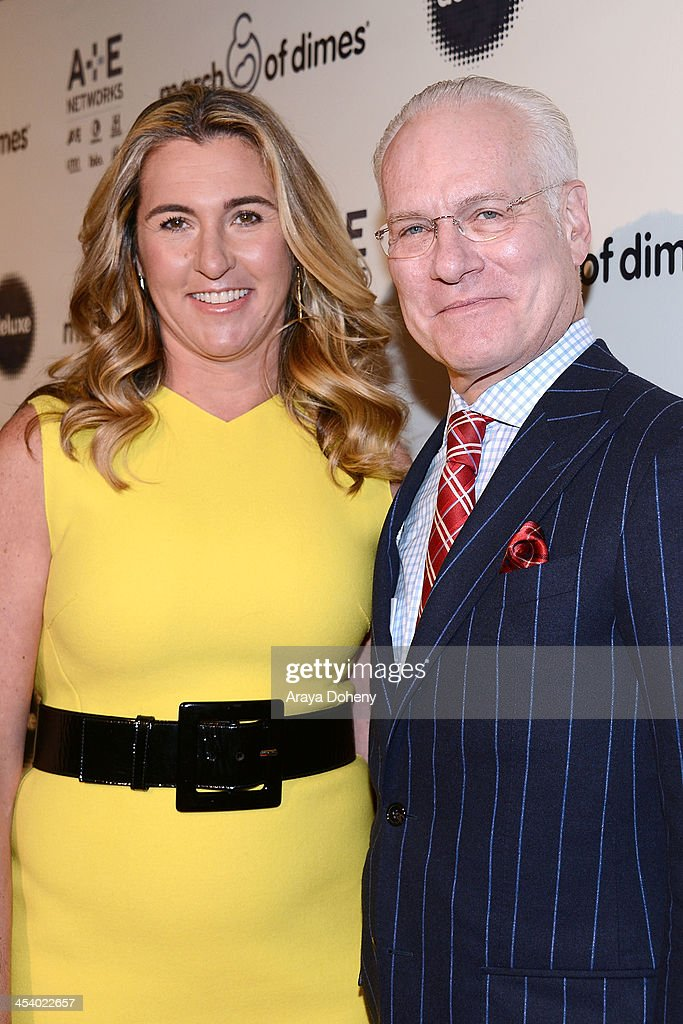 Honoree Nancy Dubuc and TV personality Tim Gunnattend the March of Dimes Celebration of Babies Luncheonat Beverly Hills Hotel on December 6, 2013 in Beverly Hills, California.