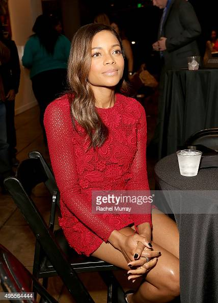 Honoree Naomie Harris attends the Black Women of Bond Tribute at the California African American Museum on November 3 2015 in Los Angeles California
