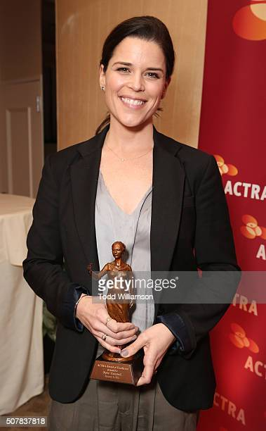 Honoree Neve Campbell attends ACTRA's 2016 National Award of Excellence at The Beverly Hilton Hotel on January 31 2016 in Beverly Hills California