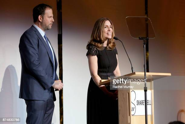 Honoree Nick Grad the President Origional Programing for FX Networks and FX Productions and Honoree Carolyn Bernstein the Executive VP Head of Global...