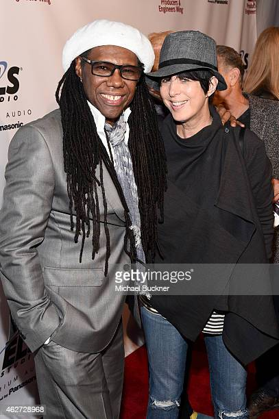 Honoree Nile Rodgers and songwriter Diane Warren attend the Eighth Annual GRAMMY week event honoring threetime GRAMMY Winner Nile Rodgers hosted by...