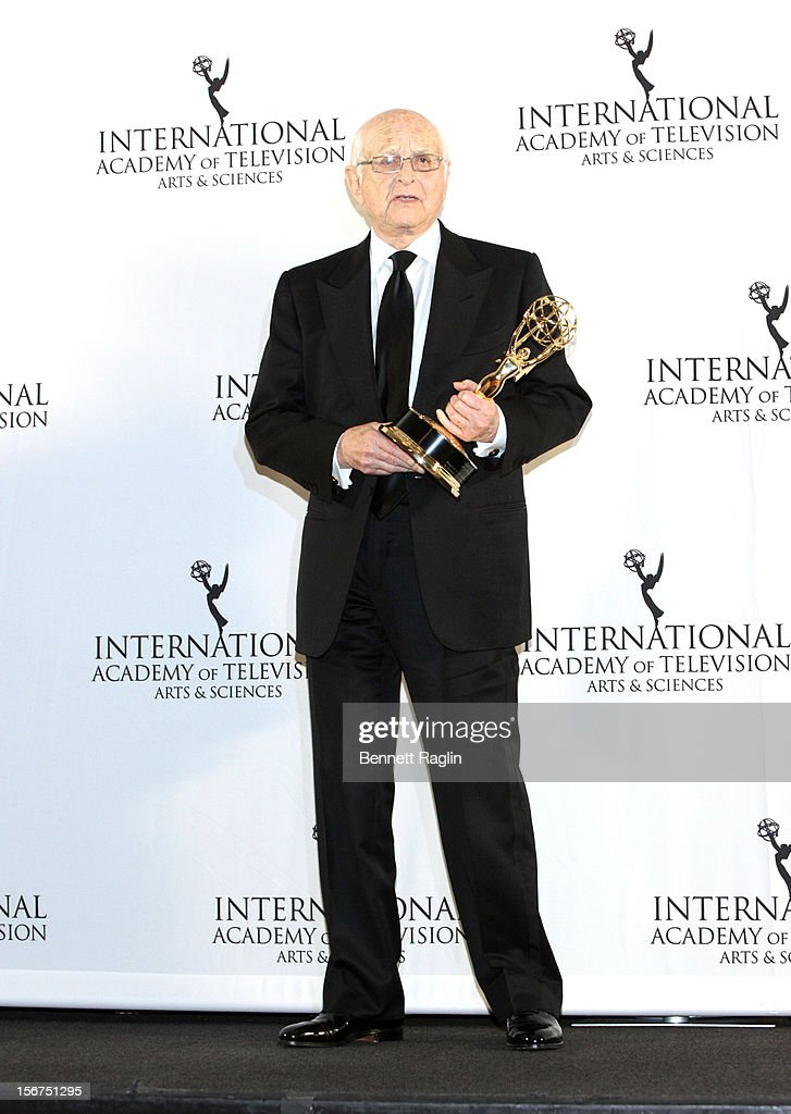 Honoree <a gi-track='captionPersonalityLinkClicked' href=/galleries/search?phrase=Norman+Lear&family=editorial&specificpeople=206632 ng-click='$event.stopPropagation()'>Norman Lear</a> attends the 40th Annual International Emmy Awards at the Hilton New York on November 19, 2012 in New York City.