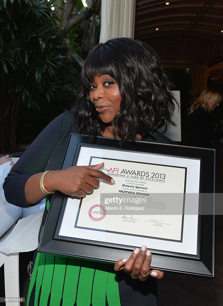 Honoree <a gi-track='captionPersonalityLinkClicked' href=/galleries/search?phrase=Octavia+Spencer&family=editorial&specificpeople=2538115 ng-click='$event.stopPropagation()'>Octavia Spencer</a> attends the 14th annual AFI Awards Luncheon at the Four Seasons Hotel Beverly Hills on January 10, 2014 in Beverly Hills, California.