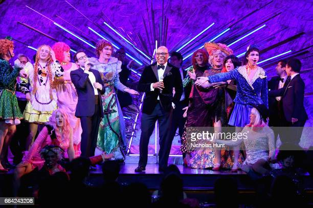 Honoree Paris Barclay performs on stage during the 2017 Hasty Pudding Institute Order of The Golden Sphinx Gala honoring Paris Barclay at Paramount...