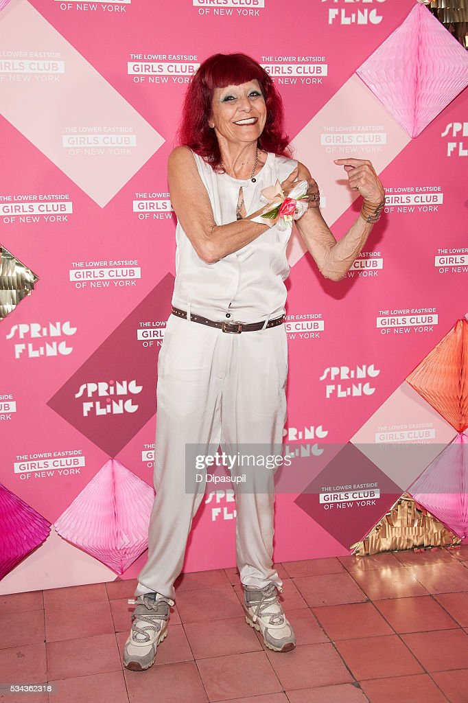 Honoree Patricia Field attends The Lower Eastside Girls Club Spring Fling 2016 at The Bowery Terrace at the Bowery Hotel on May 25 2016 in New York...