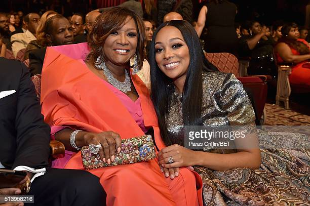 Honoree Patti LaBelle and recording artist Monica attend the BET Honors 2016 Show at Warner Theatre on March 5 2016 in Washington DC