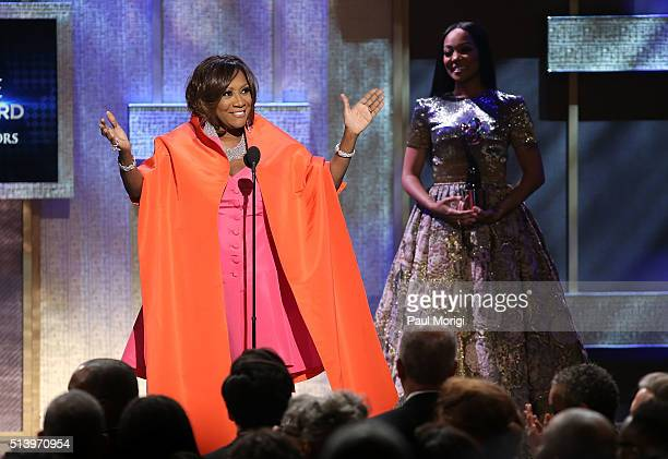 Honoree Patti LaBelle speaks after receiving an award during the BET Honors 2016 Show at Warner Theatre on March 5 2016 in Washington DC