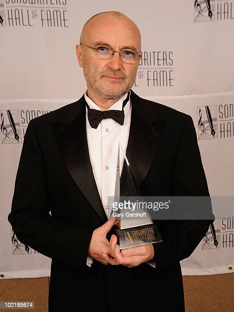 Honoree Phil Collins attends the 41st Annual Songwriters Hall of Fame Ceremony at The New York Marriott Marquis on June 17 2010 in New York City