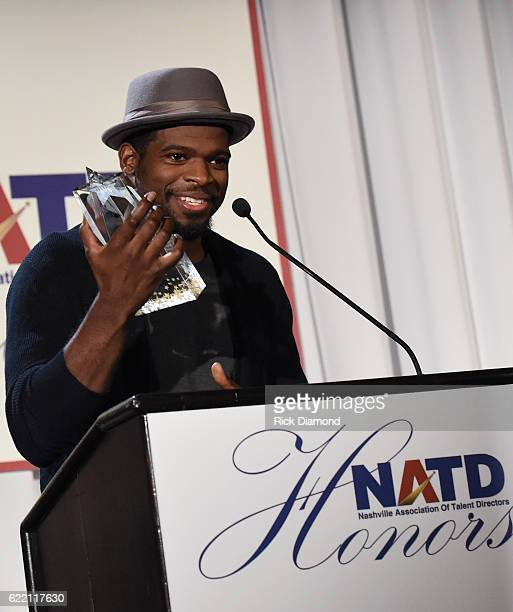 Honoree PK Subban accepts 2016 NATD Honor at the Hermitage Hotel on November 9 2016 in Nashville Tennessee